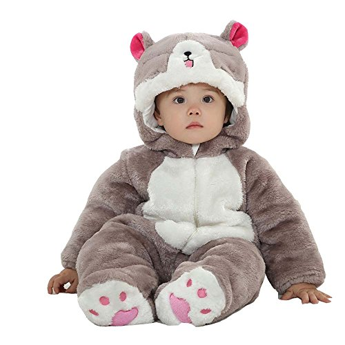 XMiniLife Halloween Thicken Infant Romper,Totoro Cat Baby Outfit