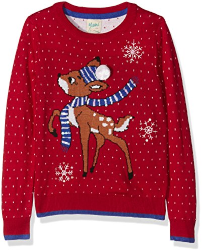 Yumi Reindeer, Felpa Bambina, Rosso, 7-8 Anni