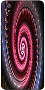 Snoogg Colourful Black Hole 2535 Solid Snap On - Back Cover All Around Protec...