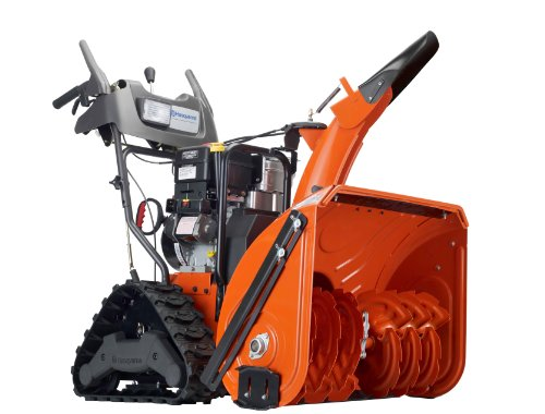 Husqvarna 1827EXLT 27-Inch 414cc SnowKing Gas Powered Two Stage Snow Thrower With Electric Start, Power Steering & Trac Hydro Drive