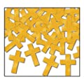 Beistle 50619-GD Gold Fanci-Fetti Crosses