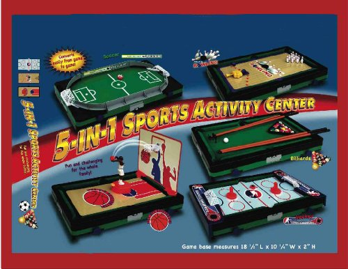 5 IN 1 SPORTS ACTIVITY CENTER (CONVERTS EASY FROM GAME TO GAME!)