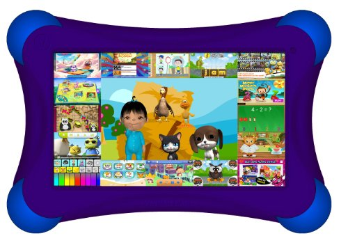 Visual Land Prestige Pro Famtab 8Gb 1.6Ghz Dual Core With Google Play And Safety Bumper (Purple) front-294024