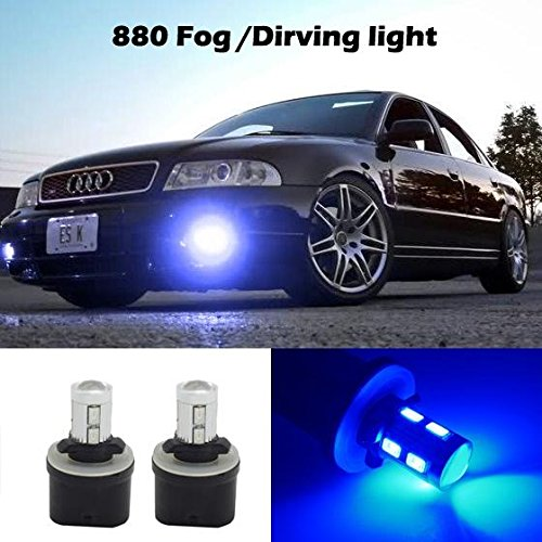 Partsam 2x 880 892 893 899 LED Bulbs Blue Fog Driving Lights Daytime Running light Bulbs Ultra Brihgt Led (96 Dodge Ram Fog Lights compare prices)