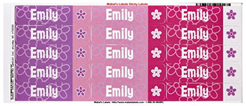 Mabel'S Labels 40845135 Peel And Stick Personalized Labels With The Name Emily And Flower Icon, 45-Count