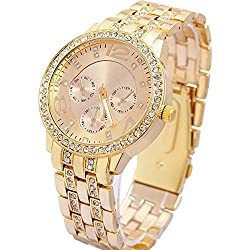 Geneva Analogue Gold Dial Womens Watch - g7475_D
