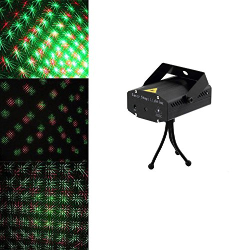 Amars(Tm) Mini Laser Stage Lights Led Party Lighting Disco Dj Lights Laser Indoor Crystal Magic Ball Sound Control For Home Club Christmas Party Festival Black