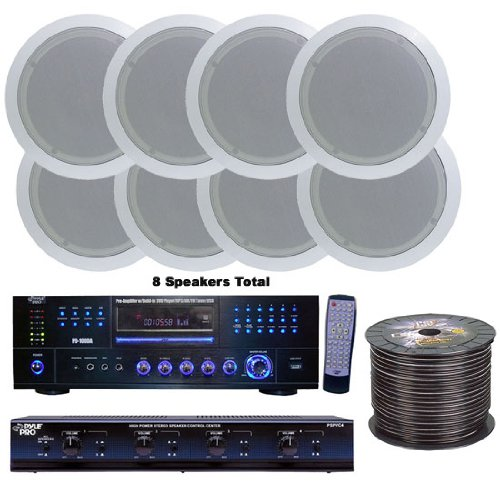 Pyle Kthsp85dv 4 Room Home In Ceiling Speakers W Dvd Mp3