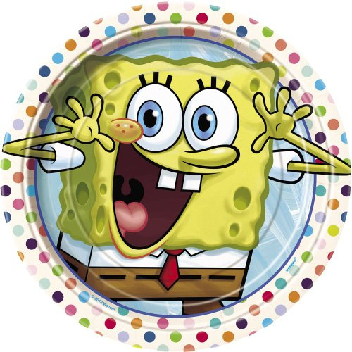 SpongeBob SquarePants Dessert Plates, 8ct - 1