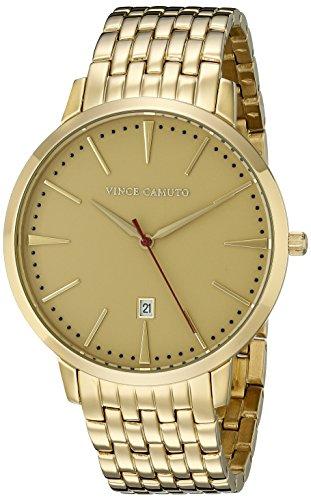 Vince Camuto VC/1074GDGP - Reloj unisex, correa de acero inoxidable color dorado