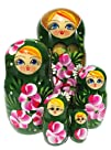 GreatRussianGifts Roses nesting doll 5-pc Green
