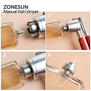 Tool Parts 13mm 15mm 18mm 20mm Stainless Steel Manual perfume bottle spray Vial Crimper Hand sealing machine, Crimper seals, capping tool - (Color: 15) (Color: 15)