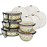 Temp-tations Old World 13-pc Round Baker Set w/ Lid-its - Confetti