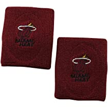 NBA Miami Heat 2-Pack Team Logo Wristbands - Dark Red