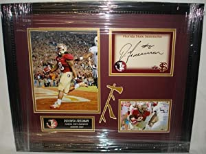Devonta Freeman Hand Signed Florida State Seminoles FSU Signature Card Custom Framed... by Sports+Memorabilia