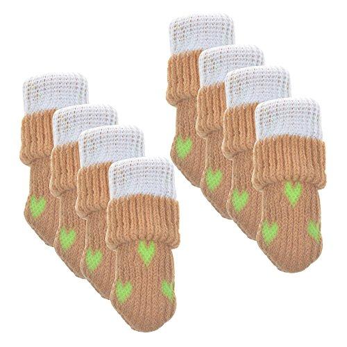 BCP 8pcs Anti Scratch Knitting Wool Furniture Socks Chair