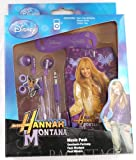 Emartbuy® Genuine Disney Hannah Montana Music Pack Of Purple In Ear Stereo Headphones, Cable Tidy And Pouch/Case/Cover/Socks Suitable For Samsung Galaxy Music S6010