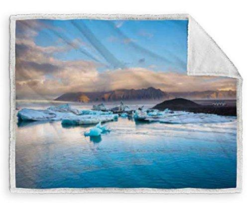 Caleffi coperta Plaid blue lagoon cm 130x160
