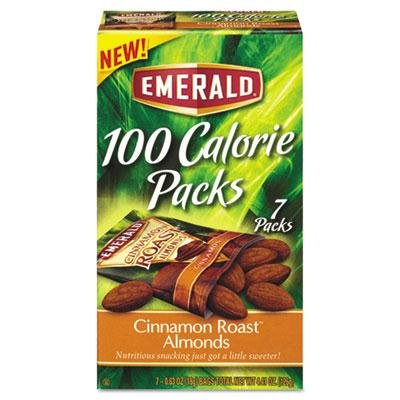 Brand New Emerald Cinnamon Roast Almonds 100-Calorie Packs 0.625 Oz Package