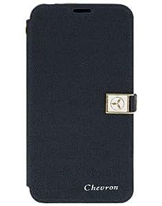 Chevron Royal Armour Flip Cover With Stand Mode for Xiaomi RedMi 2 Prime (Blue)