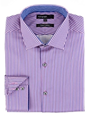 Autograph Pure Cotton Sateen Striped Tailored Fit Shirt