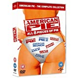 The American Pie Complete All Movies DVD Collection [8 Discs] Boxset: American Pie 1/ American Pie 2 / 3: The Wedding / 4: Band Camp / 5: The Naked Mile / 6: Beta House / 7: The Book Of Love / 8: American Reunion