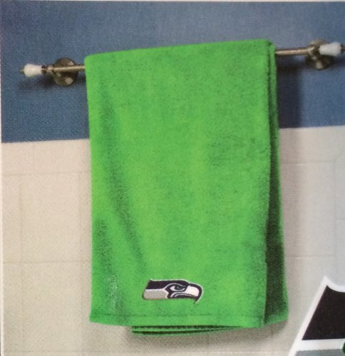 "NFL Football Seattle Seahawks Logo 100% Cotton Bath Towel (25"" x 50"") at Amazon.com"