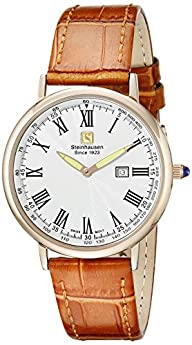 Steinhausen Men's GWL493RGWTA Dunn Luxe Analog Display Swiss Quartz Beige Watch