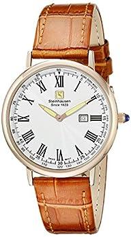 Steinhausen Men's GWL493RGWTA Dunn Luxe Analog Display Swiss Quartz Beige Watch