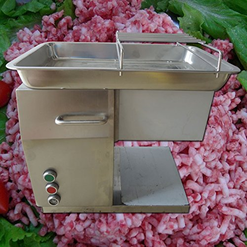 Yoli® Commercial Grade Automatic Meat Processing Equipment Stainless Steel Restaurant Meat Cutting Machine, Cutter, Dicer, Slicer 1 Cutting Blade (Restaurant Slicer compare prices)