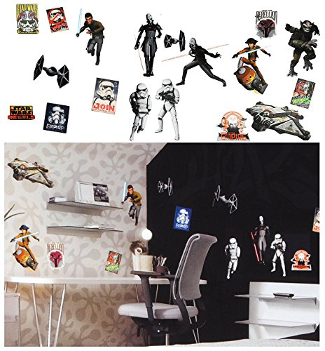 18 st ck xl wandsticker star wars rebels for Star wars tapete kinderzimmer