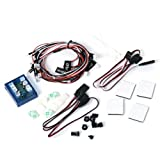 No Solder Realistic 12-LED Lighting Kit for RC Cars / Trucks 1/10th Scale / Smaller - Black +Red