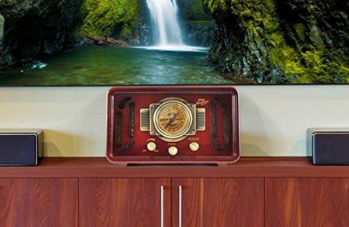 Pyle PUNP34BT Vintage Retro Classic Style Bluetooth Radio Sound System, USB/SD Readers, AM/FM Radio 4