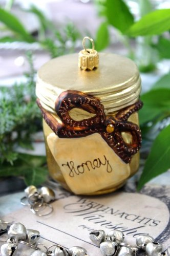Honey Pot Glass Christmas Tree Decorations