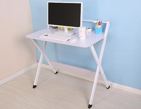 uzi-lazy persone benessere alla moda portatile a casa moderna pieghevole semplice scrivania White