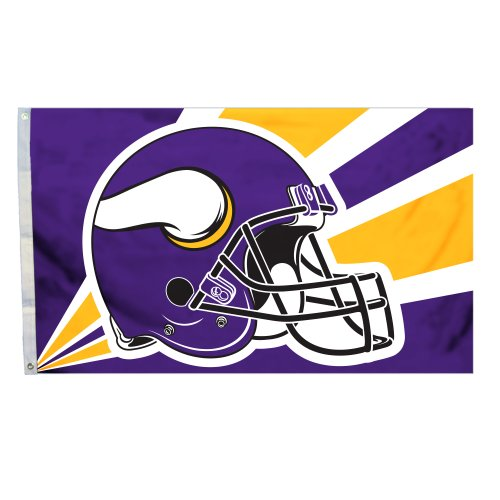 NFL Minnesota Vikings 3-by-5 Foot Helmet Flag photo