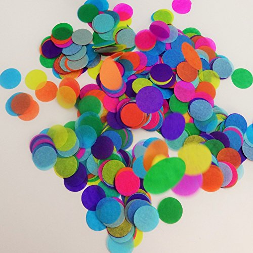 Confetti Circles 1 1/4 9 Different Colors