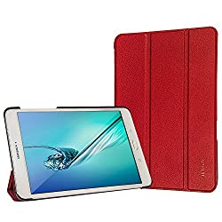 Tab S2 9.7 Case, JETech® Gold Slim-Fit Smart Case Cover for Samsung Galaxy Tab S2 9.7 inch Tablet with Auto Sleep/Wake Feature (Red)