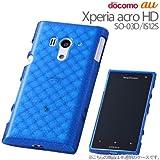 レイ・アウト Xperia acro HD docomo SO-03D/au IS12S用キラキラソフトジャケット/ラメブルーRT-SO03DC7/A