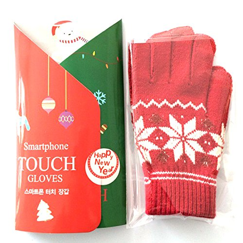Rasse® Wireless Bluetooth Handset Bluetooth Touch-screen Glove Bluetooth Talking Gloves Bluetooth Headset Winter Warm Gloves for iPhone Samsung Android Phones (Red)