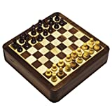 2 In 1 Game Magnetic Chess Board And Backgammon Set In Seeshum Wood Box