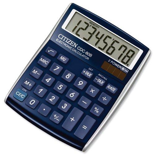 citizen-cdc80-calculator-desktop-battery-solar-tax-10-digit-3-key-memory-108x135x24mm-blue-ref-cdc80
