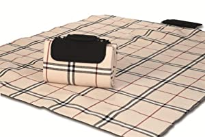 "Picnic Plus Mega Mat 100% Waterproof Backing All Season Picnic Blanket, Beach Mat, Portable Play Mat. Opens to 48""x 60"", Seats 2-3 Persons Plus Gear from Picnic Plus"