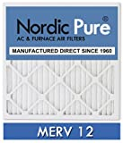 Nordic Above reproach 20x25x5 Honeywell Replacement AC Furnace Air Filters, MERV 12, Box of 2