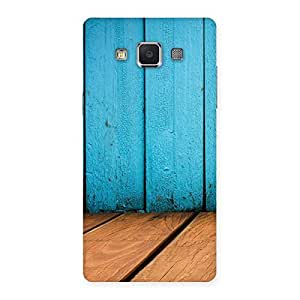 Cyan Wood Back Case Cover for Samsung Galaxy A5