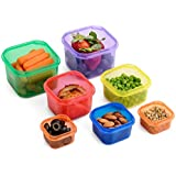 Meal Prep Haven 7 Piece Portion Control Container Kit with Guide, 100% Leak Proof, Multi-Colored System and Comparable to 21 Day Fix