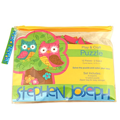 Stephen Joseph Owl Shaped Jigsaw Puzzle