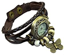 buy Misslo® Boho Chic Vintage Inspired Watch With Butterfly (Brown)
