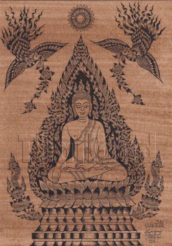 Amorn Gallery Thailand Art Buddha Picture 仏陀 ビンテージ クラシック ポストカード