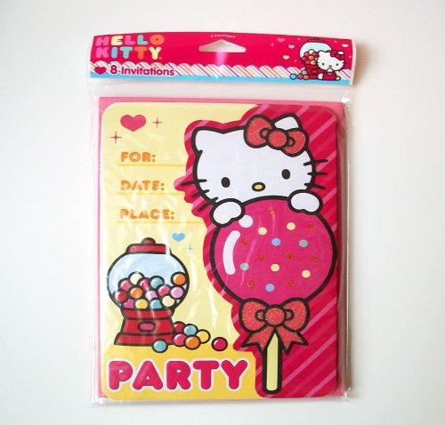 Hello Kitty 8 Invitations/Envelopes - 1